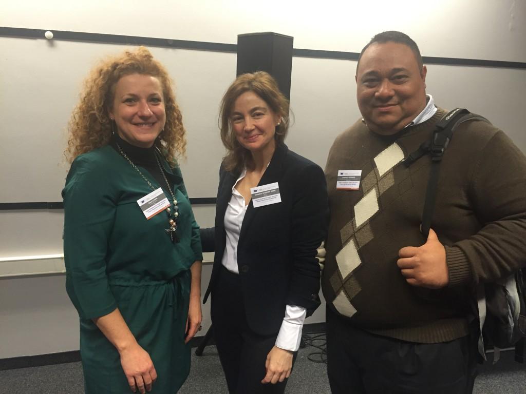 Coordinadores ACAI-LA con EACEA project officer  Almudena Saenz de Miera
