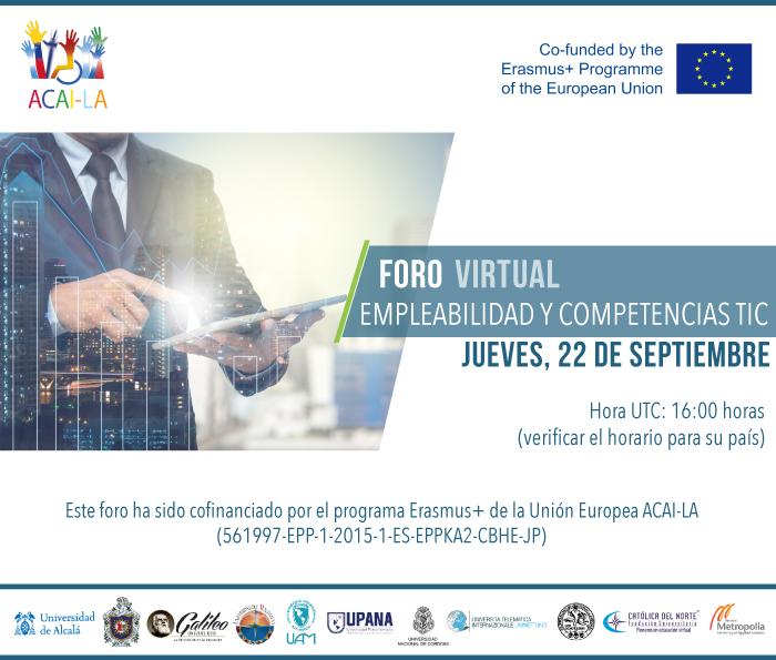 Foro Virtual ACAI-LA sobre Empleabilidad y TICs