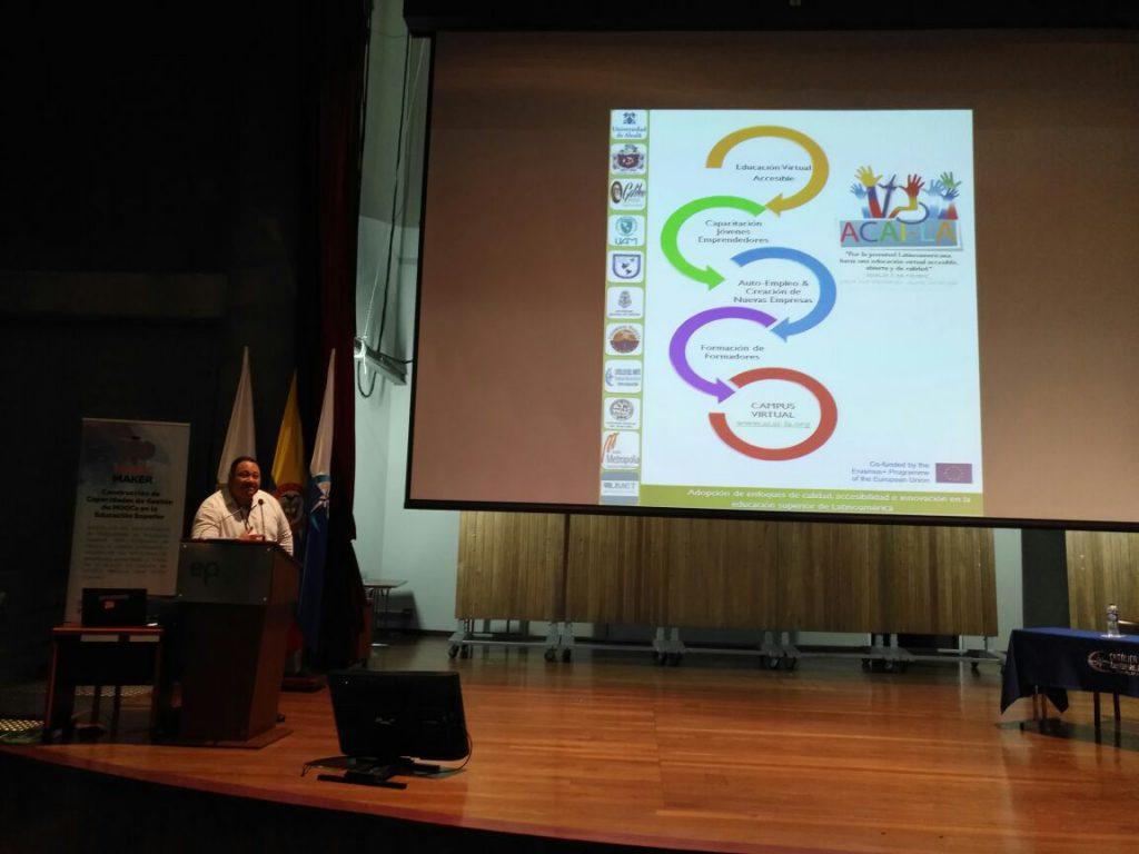 Presentación ACAI-LA por parte de Ernesto Espinoza Sub-coordinador ACAI-LA