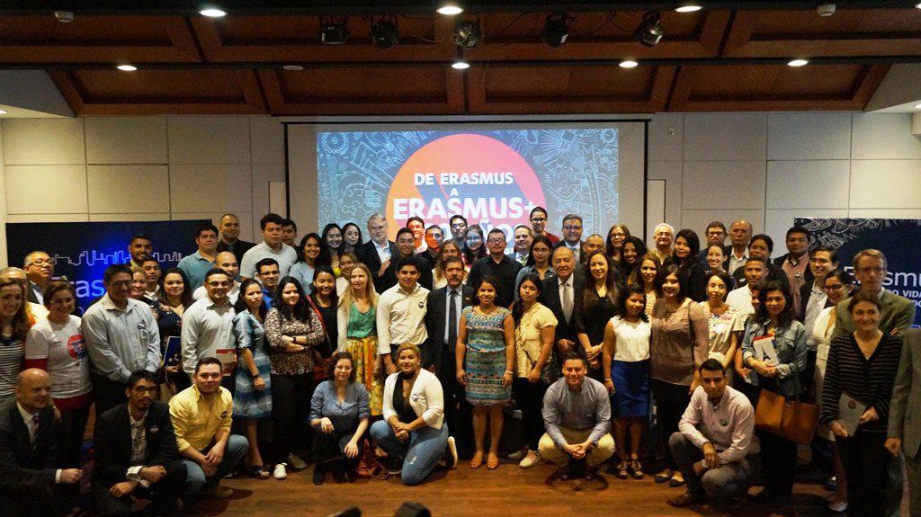 Público asistente evento Erasmus+ 30 años en Nicaragua