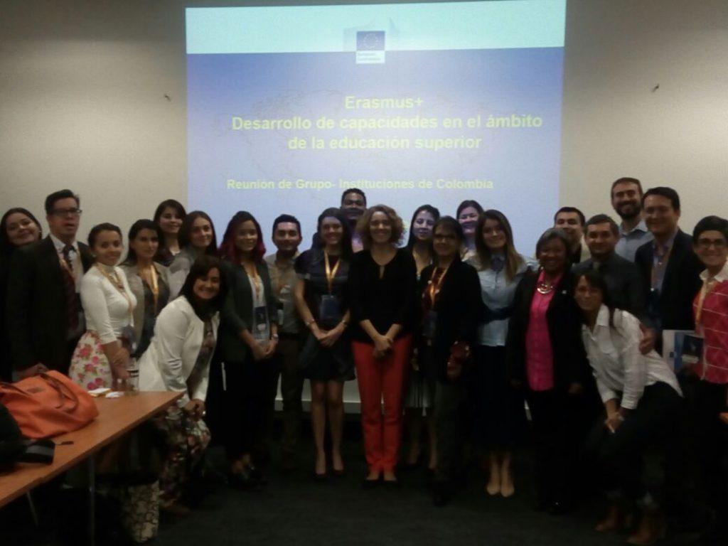 Participantes en evento de Coordinación Erasmus+ en Colombia